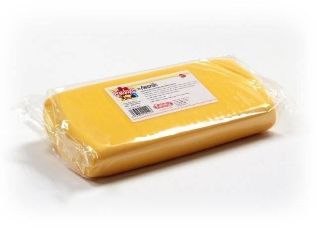 Potahovací hmota 1 Kg - žlutá Kelmy