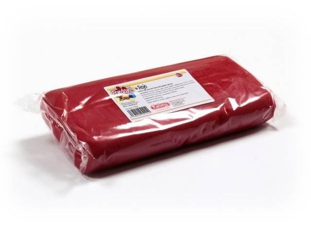 Potahovací hmota 1 Kg - červená Kelmy