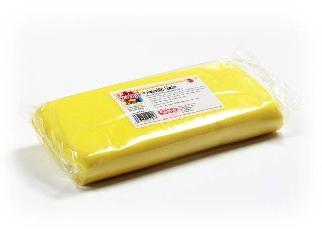 Potahovací hmota 1 Kg - citrónově žlutá Kelmy