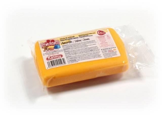 Potahovací hmota 250 g - žlutá Kelmy