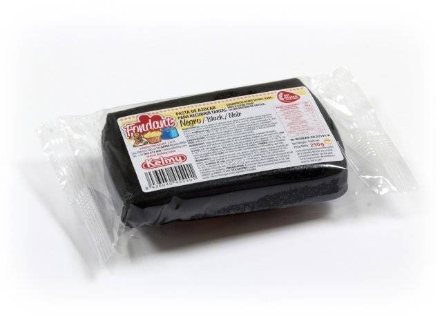 Potahovací hmota 250 g - černá Kelmy