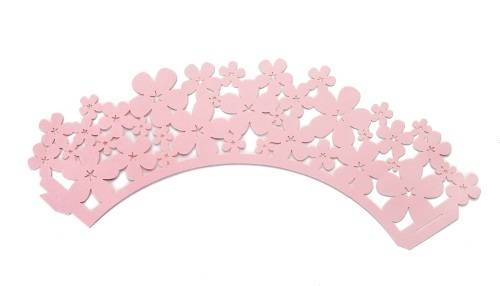 Ozdobný límec na košíčky - růžový Ibili