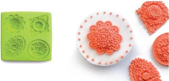 3D forma na fondant květiny Ibili