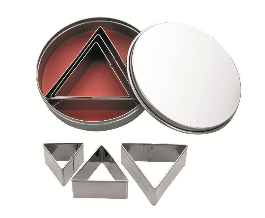 Nerezová vykrajovátka trojúhelník set – 6ks Ibili