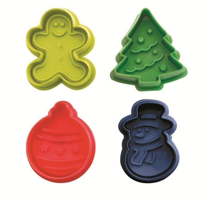 Plastová vykrajovátka Vánoce set – 4ks Ibili