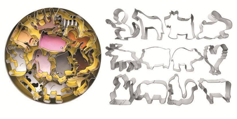 Vykrajovátka zvířata set – 12ks Ibili
