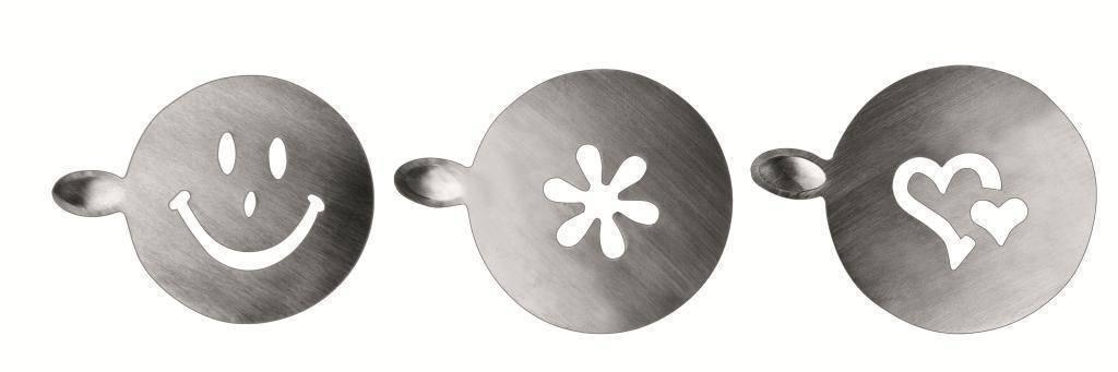 Šablona na zdobení cappuccina 3ks Ibili