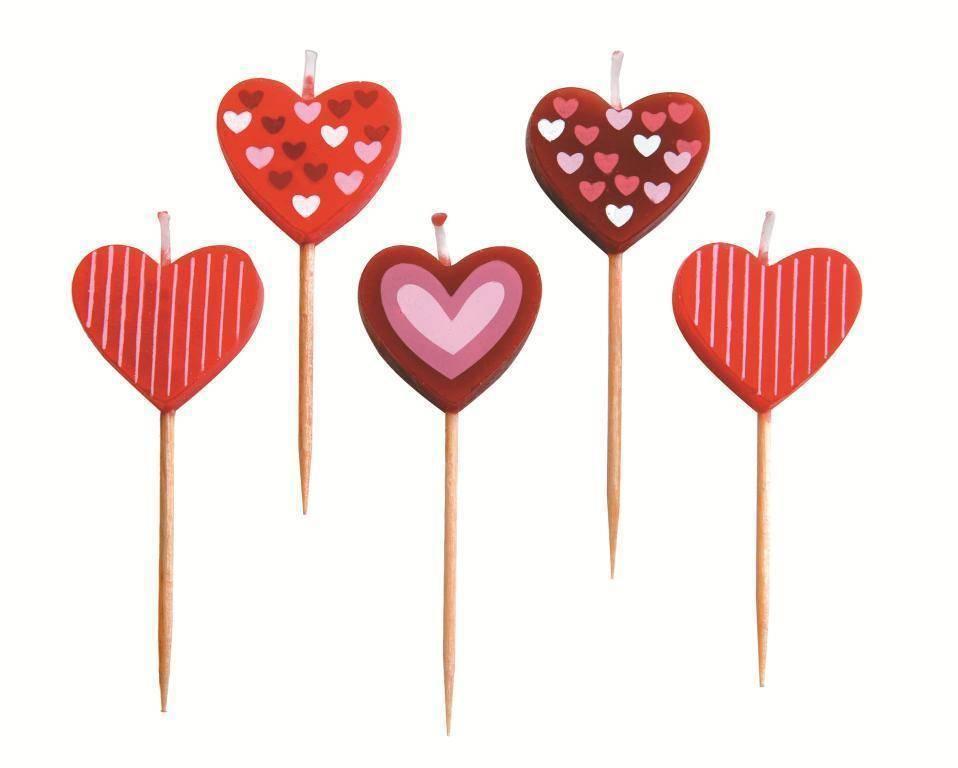 """Svíčky """"srdce"""" set – 5ks Ibili"""