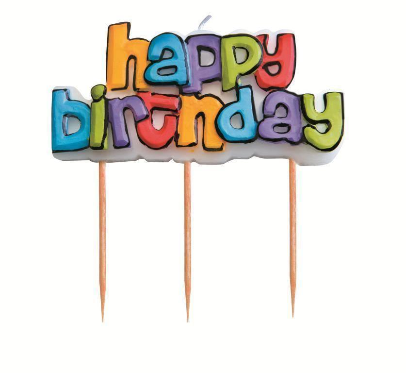 """Svíčka """"happy birthday"""" Ibili"""