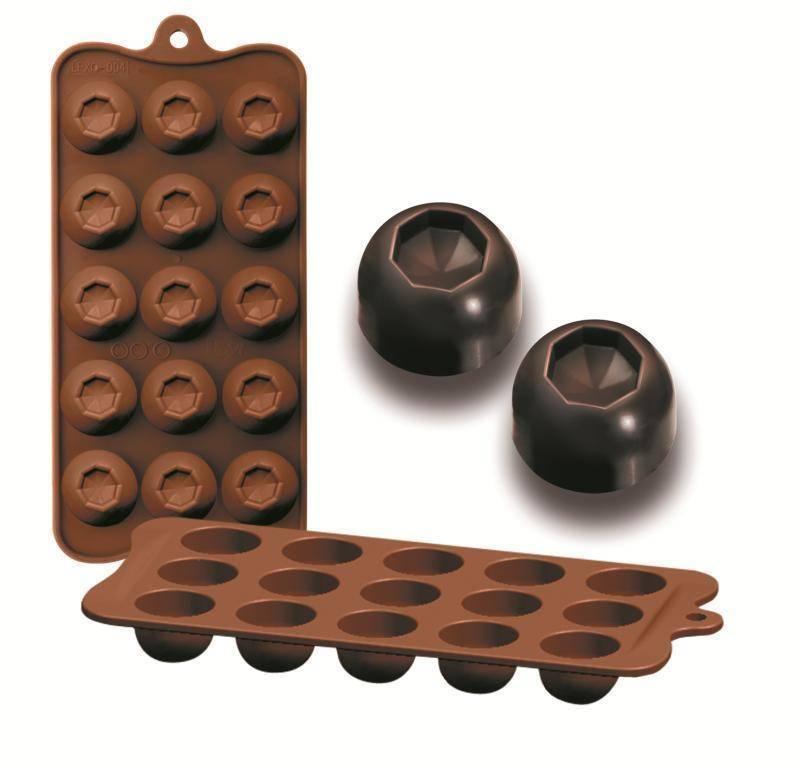 Formičky na čokoládu diamant 10,5x21cm Ibili