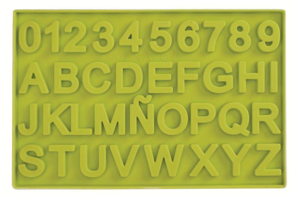 Silikonová forma na čokoládu čísla a písmena Ibili