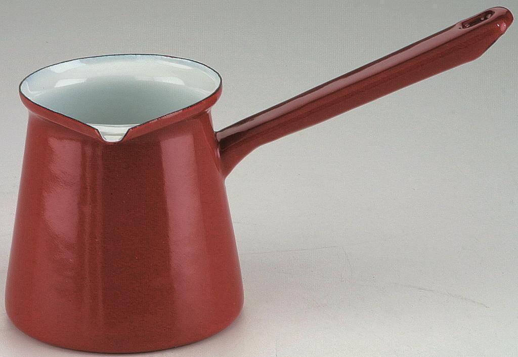 Smaltovaná džezva na kávu 0,5l - červená Ibili