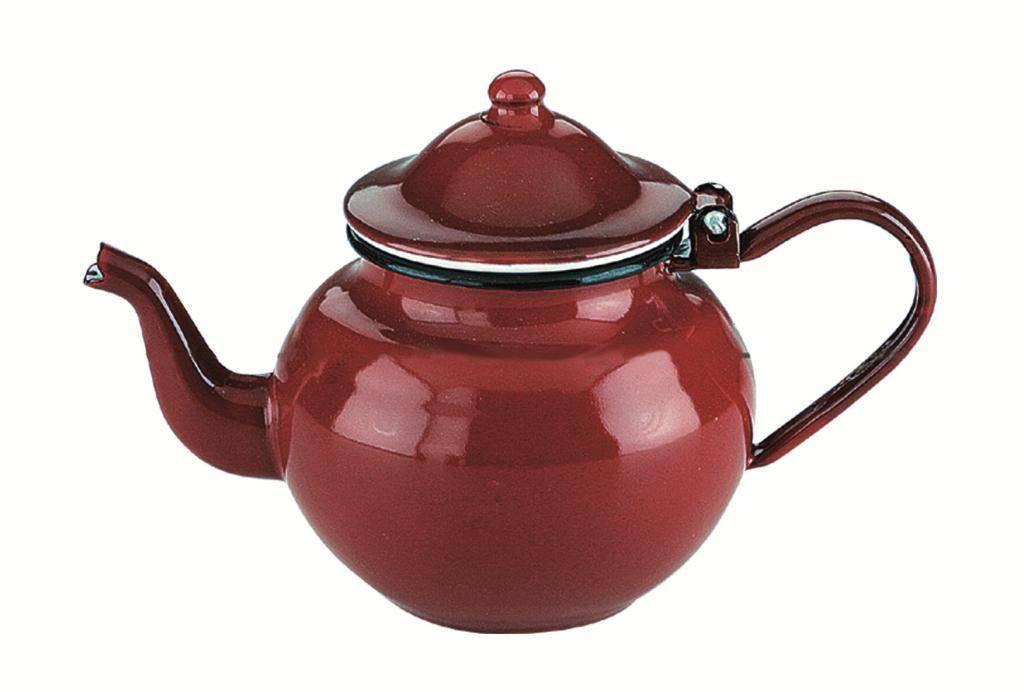 Smaltovaná konvička na čaj 0,5l - červená Ibili