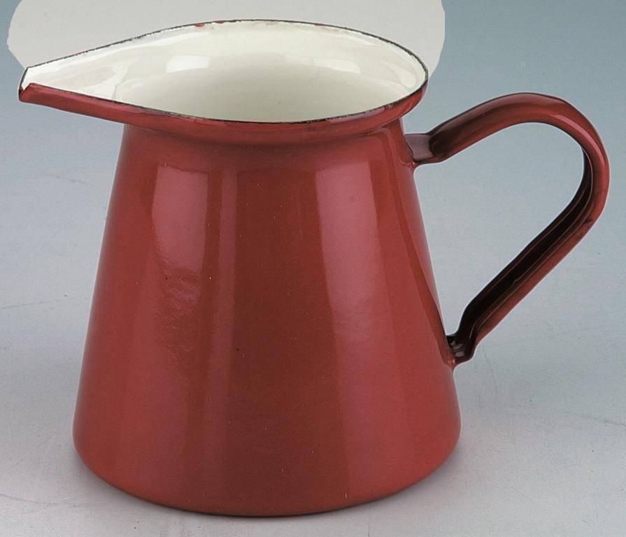 Smaltovaný džbánek na mléko - červený Ibili