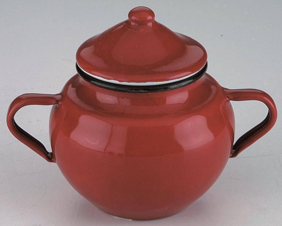Smaltovaná cukřenka 0,5l - červená Ibili