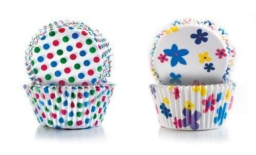 Papírové košíčky - puntíky a kytičky 2 x 50 ks Ibili