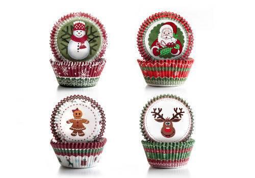 Cukrářské košíčky - vánoční set 100ks Ibili