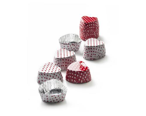 Cukrářské košíčky na čokoládu- srdíčka 36ks Ibili