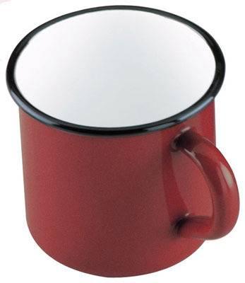Smaltovaný hrnek 400ml - červený Ibili
