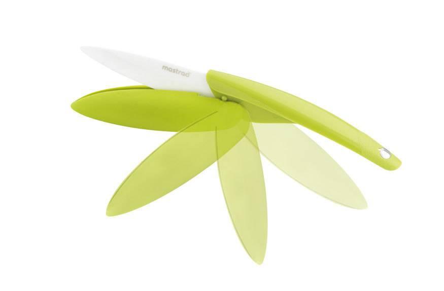 Keramický nůž skládací Mastrad zelený 7,6cm