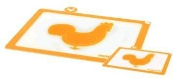Krájecí deska na drůbež Mastrad oranžová set – 2ks