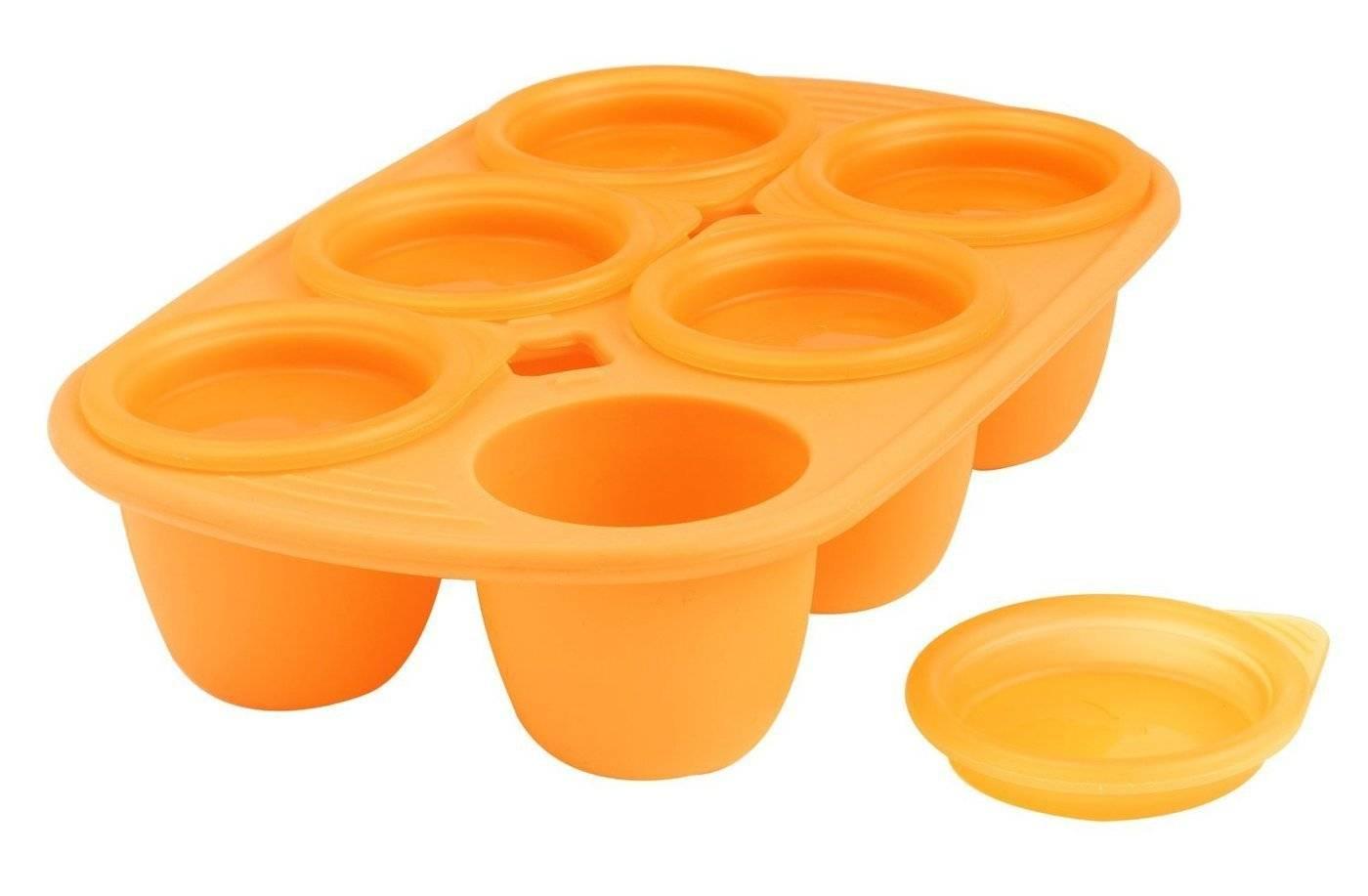 Silikonová miska Mastrad 6 porcí oranžová 60ml