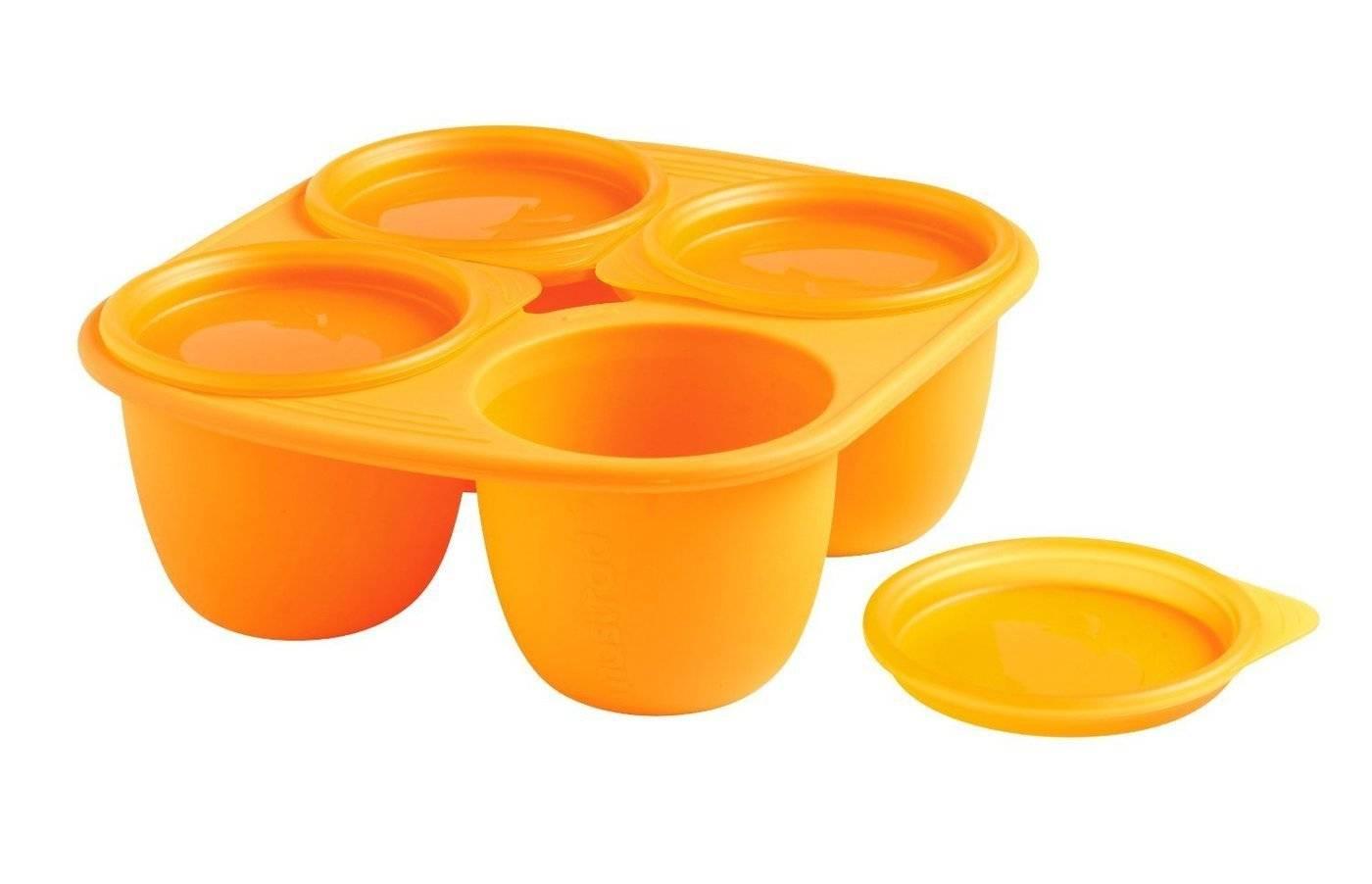 Silikonová miska Mastrad 4 porce oranžová 280ml