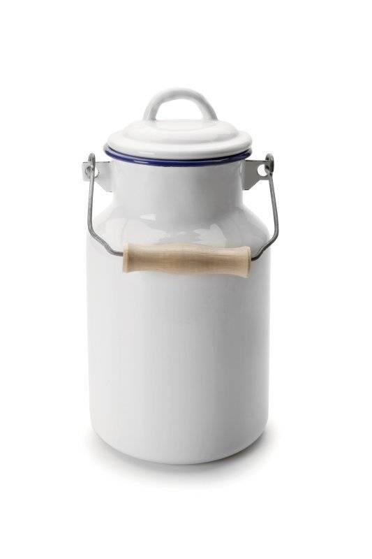 Smaltovaná konvička na mléko Ibili