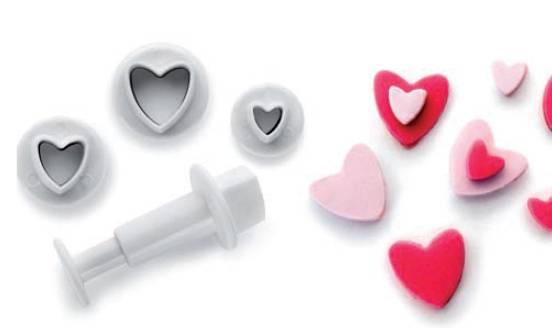 Zdobící sada srdce set – 3ks Ibili
