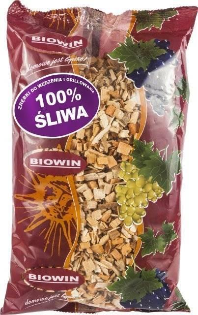 Dřevní štěpka na uzení a grilování - švestka 450g BIOWIN