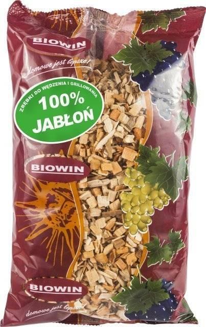 Dřevní štěpka na uzení a grilování - jabloň 450g BIOWIN