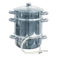Nerezový hrnec na odšťavňování i vaření v páře 8 l BIOWIN