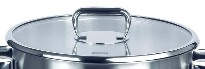 Poklice pro varné nádobí Sicilia- O 24 cm, sklo-nerez - Fissler