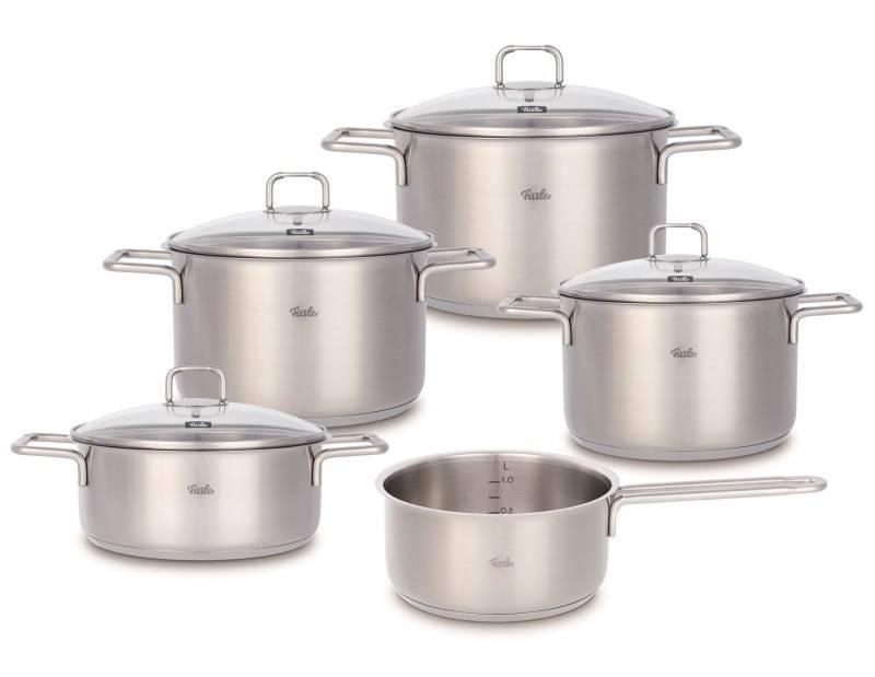 Sada nádobí nerezová - 5 dílná – Hamburg® Fissler