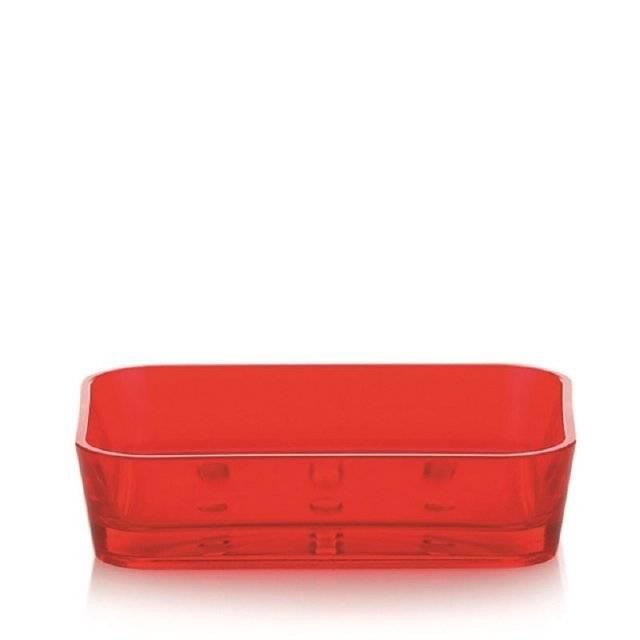 Miska na mýdlo červená Kela