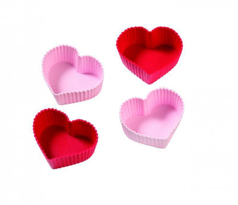Silikonové formy na muffiny ve tvaru srdce Birkmann