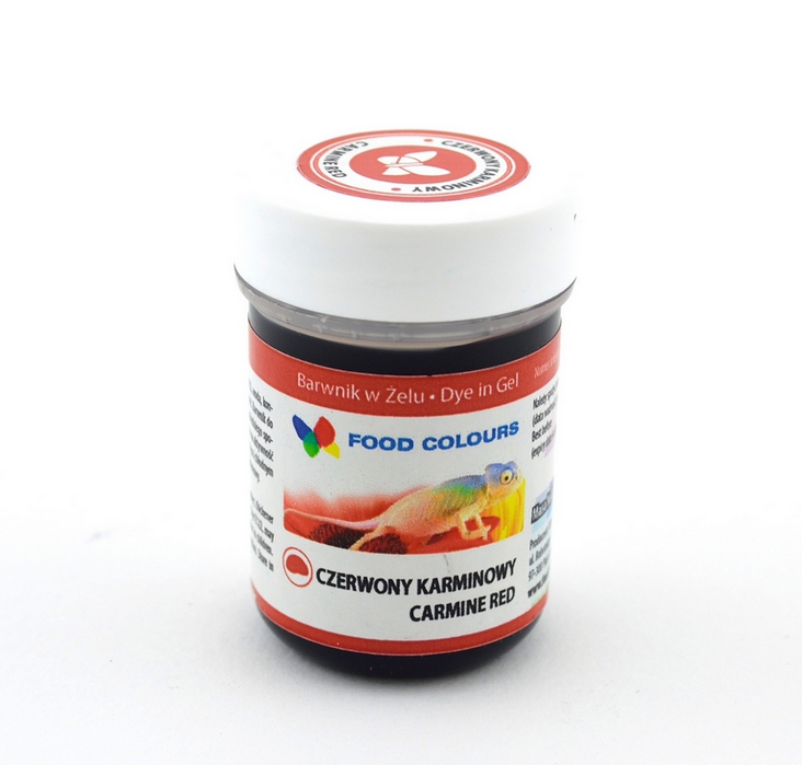 Gelová barva (Carmine Red) karmínově červená 35 g Food Colours