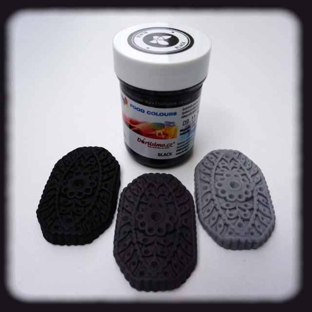 Gelová barva (Black) černá 35 g Food Colours
