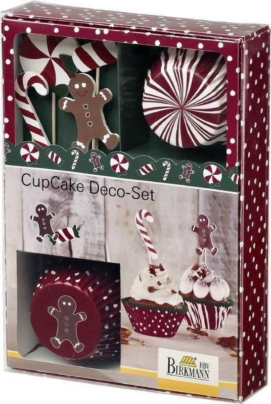 Vánoční sada na zdobení muffinů CANDY CHRISTMAS Birkmann