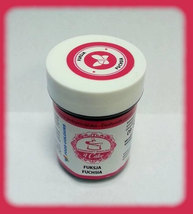 Gelová barva (Fuchsia) sytě růžová 35 g Food Colours
