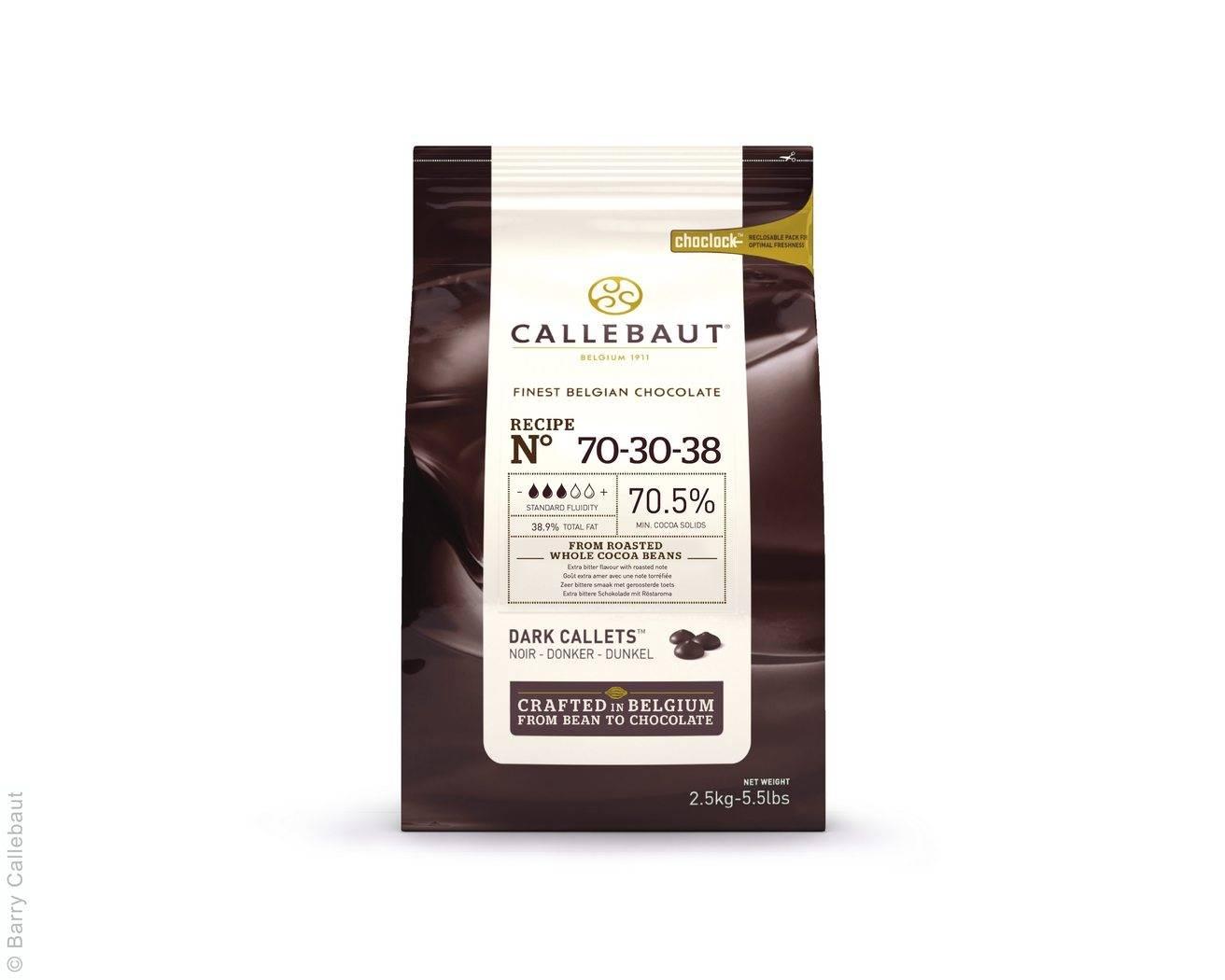 Belgická čokoláda 70% 2,5Kg - hořká Callebaut