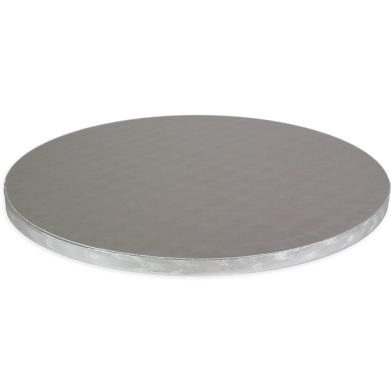 Podložka dortová stříbrná - kruh 14 PME