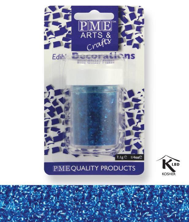 Sypání Glitter Flakes - modré PME