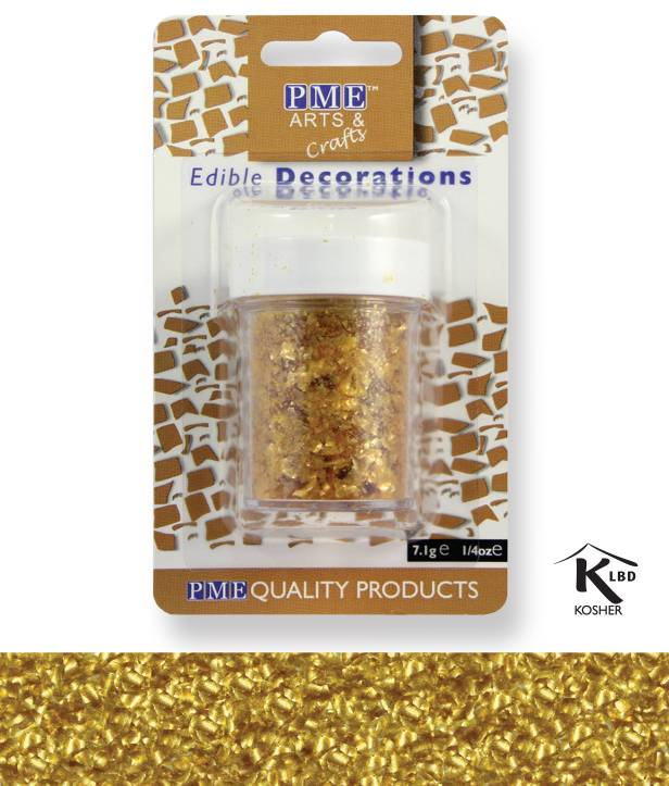 Sypání Glitter Flakes - zlaté PME