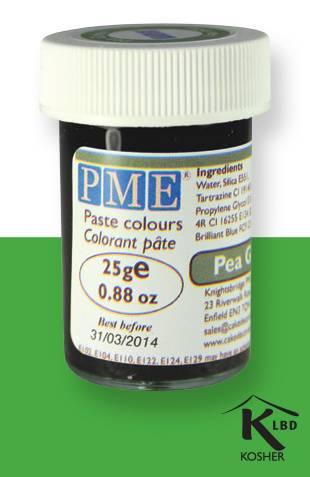 PME gelová barva - hráškově zelená