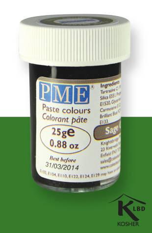 PME gelová barva - šedozelená