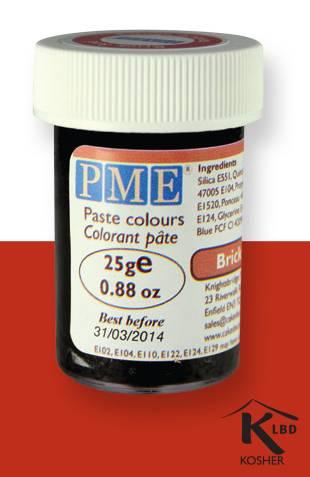 PME gelová barva - cihlově červená