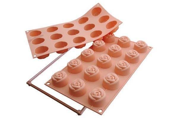 Silikonová forma na dortíky – růžičky Silikomart