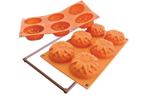 Silikonová forma na dortíky – velké slunečnice Silikomart