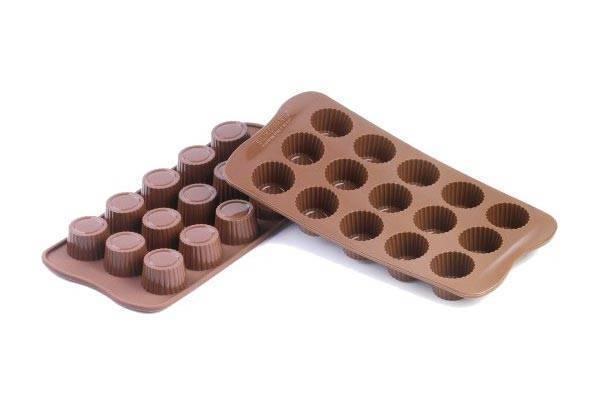 Silikonová forma na čokoládu – pralinky Silikomart
